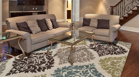 how to place a rug in a living room modern transitional living room with ivory damask rug