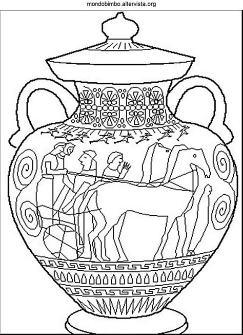 vaso greco da colorare antichi greci da colorare mondo bimbo