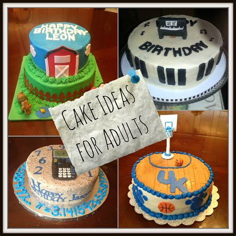 themed birthday cakes for adults birthday cake ideas for adults