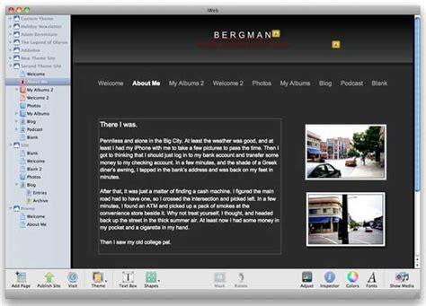 iweb templates free replenish your iweb themes macworld