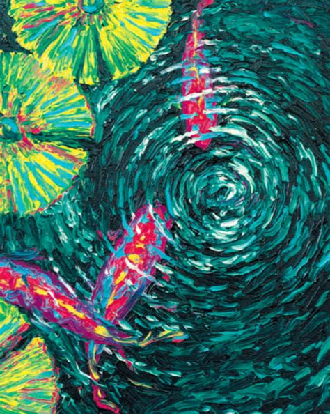 Oil Finger Painting: Koi Fish   Quarto Creates