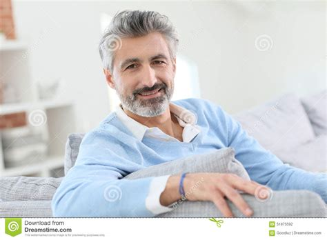 45 years old man pics 45 year old man relaxing at home stock photo image of