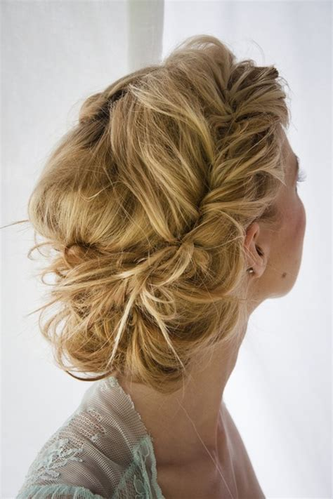 formal hairstyles messy bun with braid 45 side hairstyles for prom to please any taste