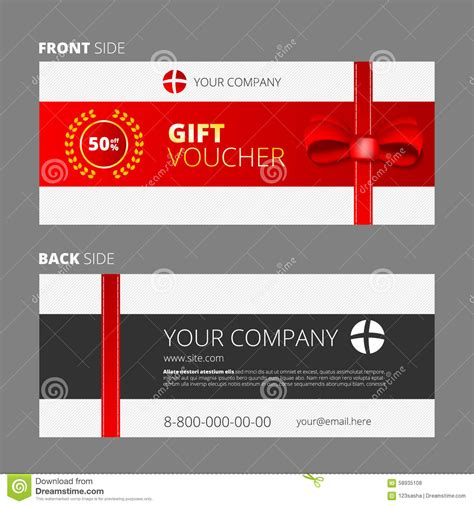 How To Design A Gift Card - design of voucher and gift certificate stock vector