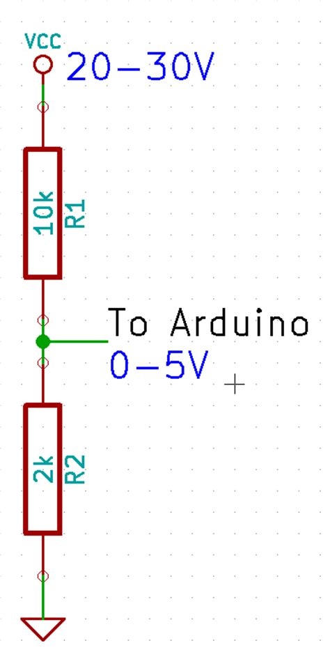 voltage divider resistor wattage calculator measuring high dc supply voltage with an arduino hal9k