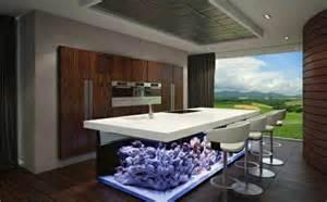 Fresh Design Kitchens wundervolles k 252 chendesign mit aquarium das den ozean mit