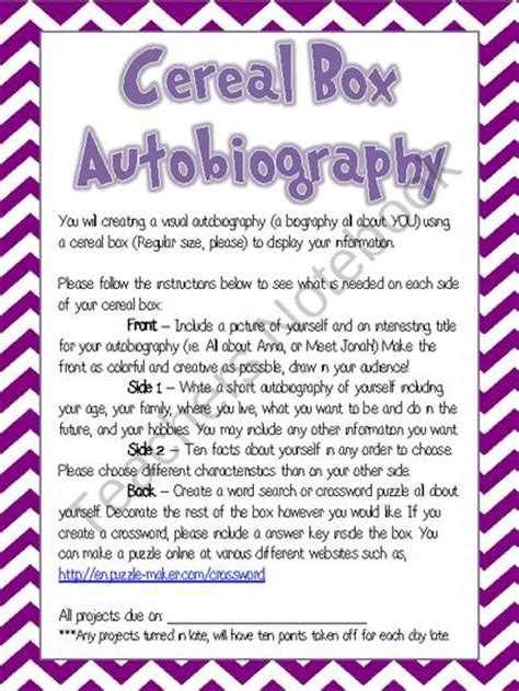 biography ideas for 6th graders 13 best 6th grade autobiography images on pinterest