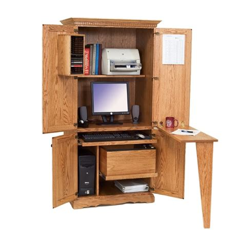 Used Computer Armoire Office Armoire Sukiya Office Armoire Used Square Cherry Computer Armoire Cabinet Hutch
