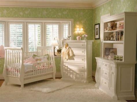 Green Wallpaper Nursery | simply home designs home interior design decor baby