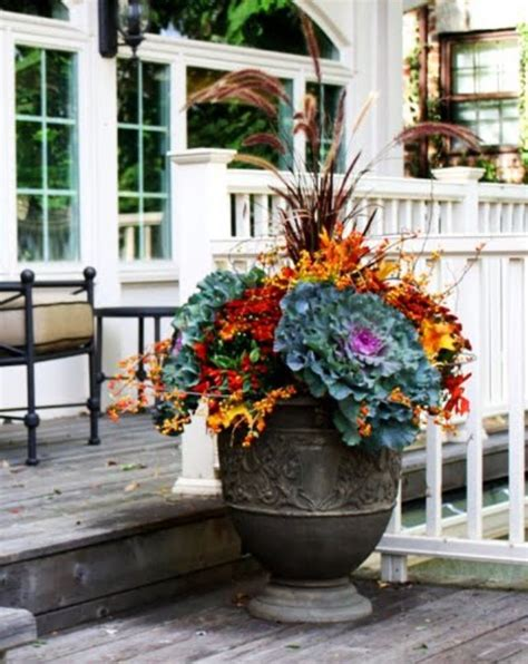 Fall Planter Ideas by Fall Outdoor Containers Falldecor Fall Ideas