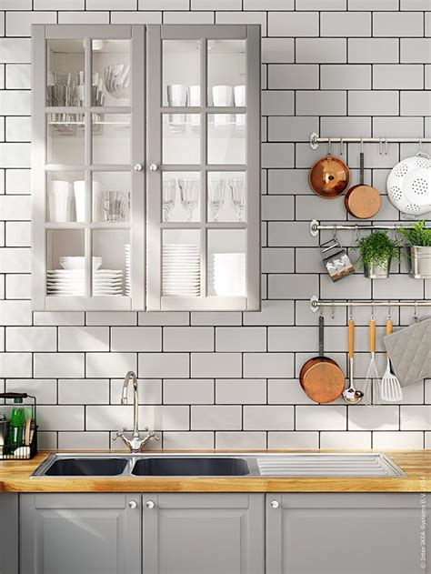 ikea grey kitchen cabinets 22 best images about kakel on pinterest subway tile