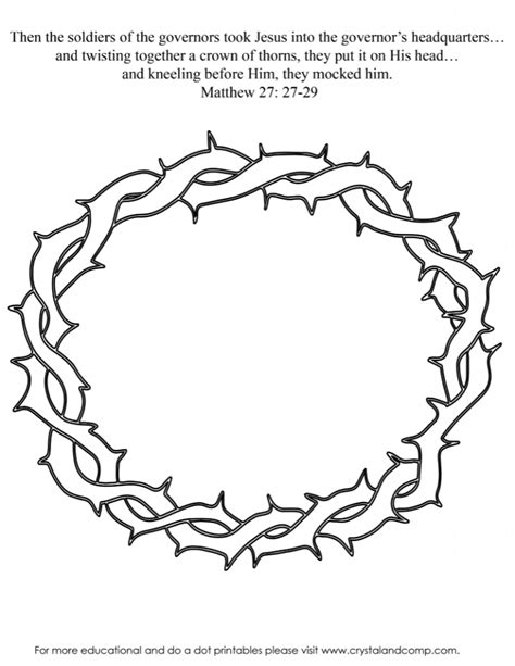 Crown Of Thorns Coloring Page crown coloring pages