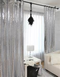 silver bedroom curtains handmade silver sequins drops single curtain glitter