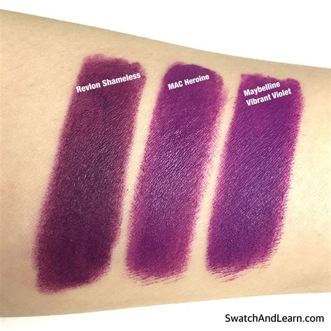 Lipstik Revlon Matte Colorburst comparison swatches of 3 lipsticks revlon colorburst