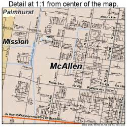 where is mcallen on the map mcallen map 4845384