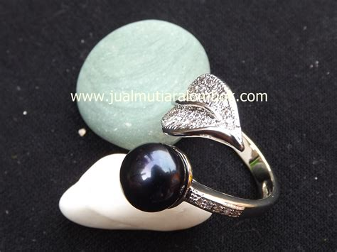 Cincin Rhodium Mutiara Air Tawar Lombok 21 cincin mutiara lombok crmt 09 jual mutiara lombok murah