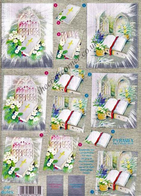Die Cut Decoupage Sheets - religious bible die cut dufex pyramex pyramid 3d decoupage