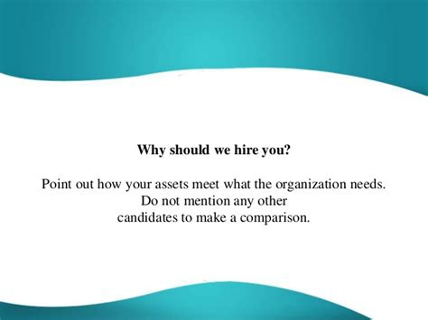 why should we hire you question best answer
