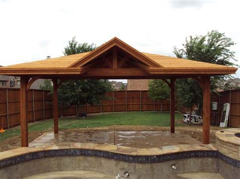 Freestanding Patio Cover With Single Gable Provides