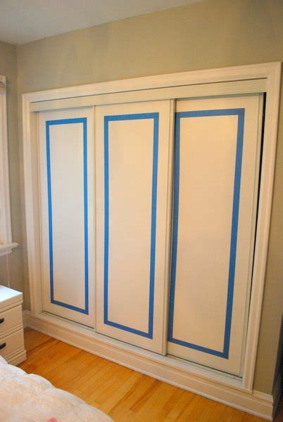 hometalk how to paint faux trim on closet doors