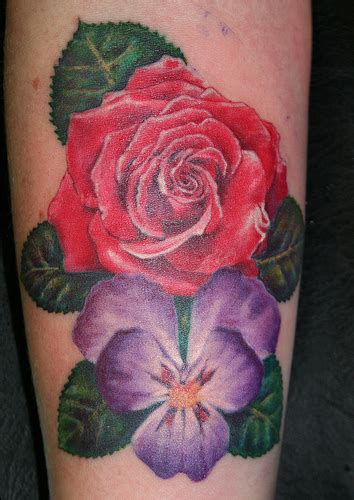 violet flower tattoo designs violet flower tattoos