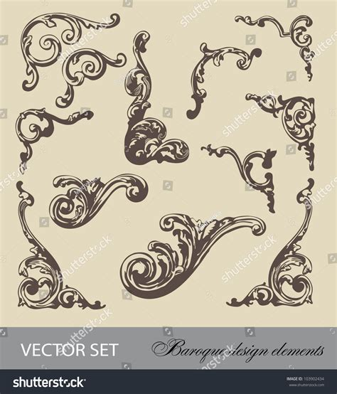 baroque designs baroque design vector pictures to pin on pinterest pinsdaddy