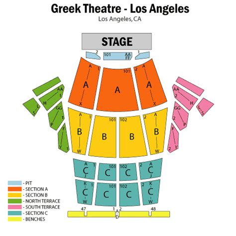 nokia theater seating map los angeles nokia theater seating chart
