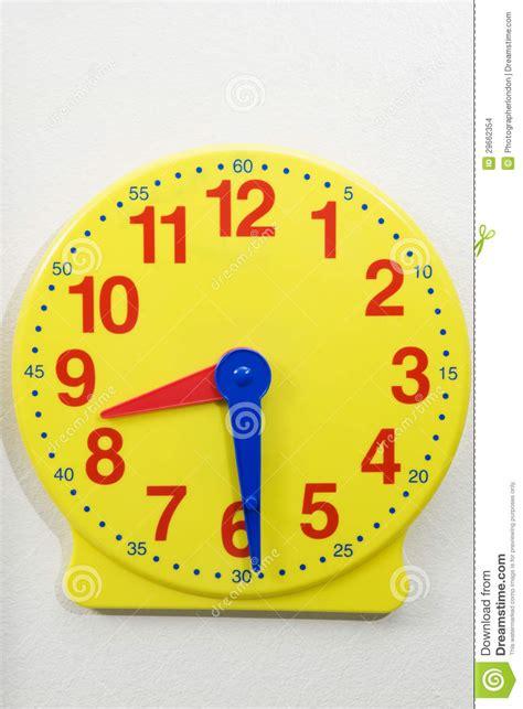 printable toy clock yellow time teaching clock stock photo image of clock