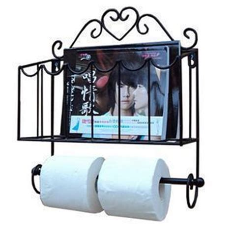 Wrought Iron Bathroom Furniture Fashion Wrought Iron Furniture Paper Towel Holder Magazine Rack Wall Bathroom Shelf In Storage