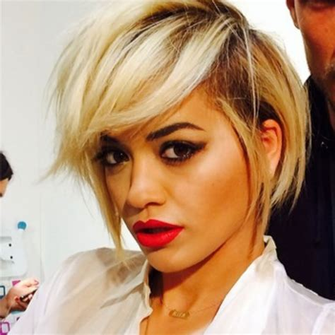 rita oras new short haircut from the 2015 grammy awards lipstick rita ora gets an edgy new haircut marie claire