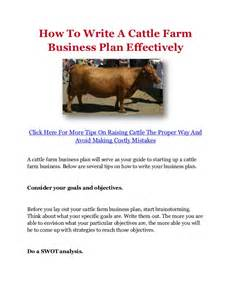 Ranch Business Plan Template How To Write A Cattle Farm Business Plan Effectively