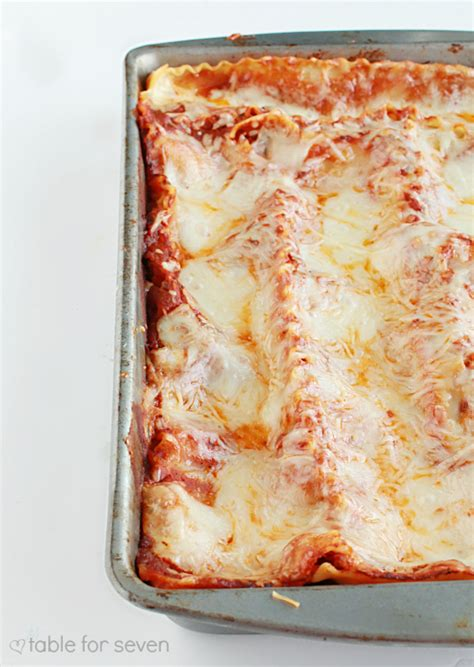 Lasagna Recipe Cottage Cheese Ricotta by Three Cheese Lasagna No Ricotta Cheese Table For Seven