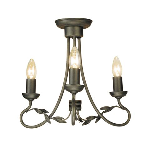 Black 3 Light Chandelier 3 Light Chandelier Black Gold