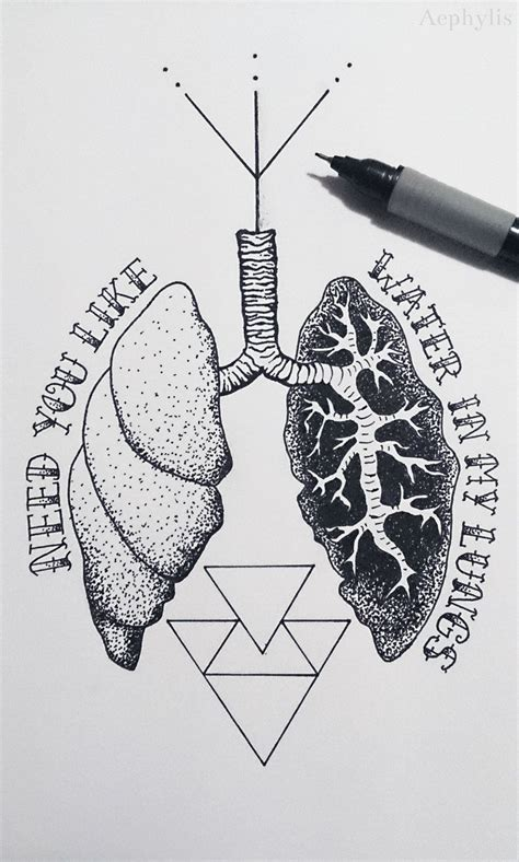 lung tattoo lung ideas buscar con crafts