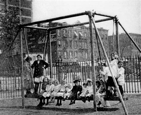 history of swinging history of playgrounds in parks nyc parks