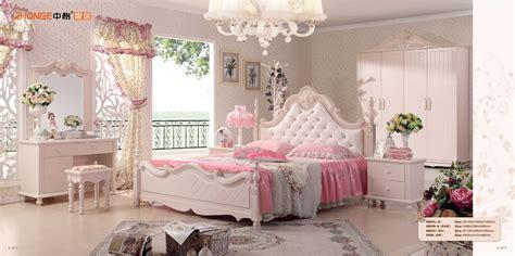 luxe mooie witte kinderen houten slaapkamer set china