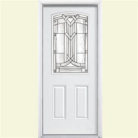 Exterior Steel Doors Home Depot Masonite 36 In X 80 In Chatham Camber 1 2 Lite Primed