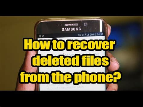 how to recover deleted from android phone how to recover deleted files from android phone with a