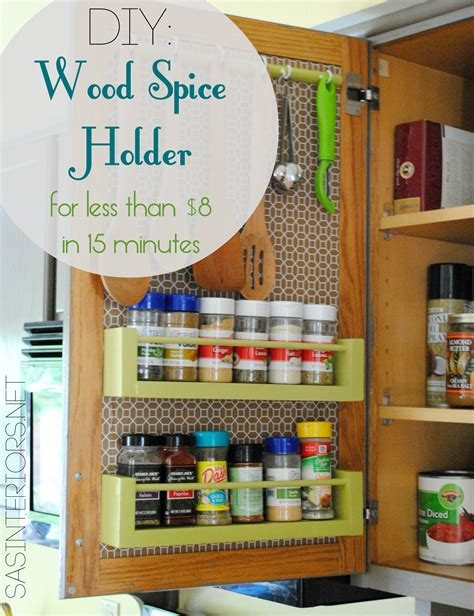 diy inside cabinet spice rack diy wood spice rack burger
