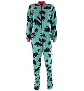 lazy one teal footed pajamas for adults