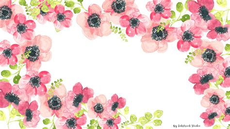 wallpaper floral watercolor floral desktop wallpaper inkstruck studio