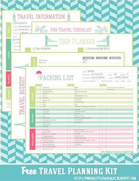 trip planner template free travel planning kit pinch a save a lot