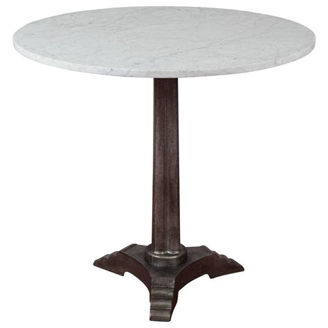 marble top cafe table deco marble top bistro cafe table at 1stdibs