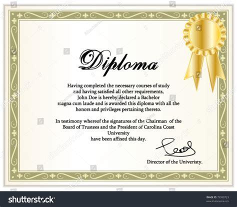 Vintage Frame Certificate Diploma Template Golden Stock
