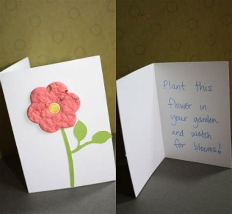 How To Make Greeting Cards With Paper - make plantable greeting cards using seed paper