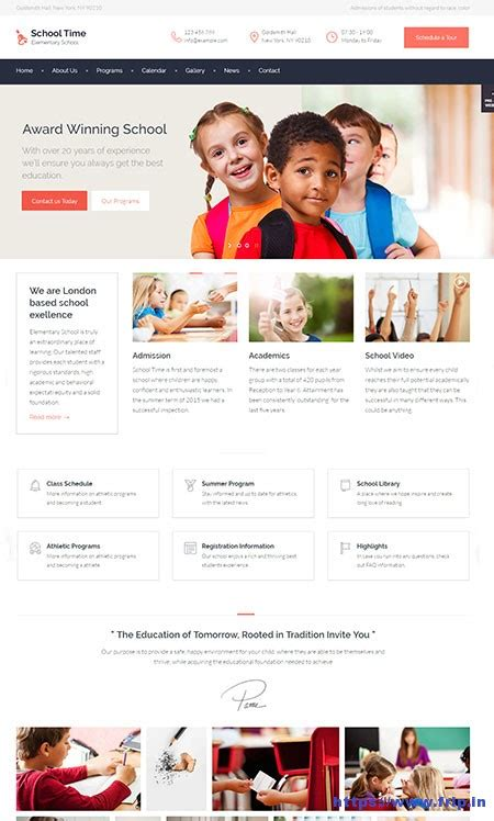 theme education time 30 best kids kindergarten wordpress theme 2017 frip in