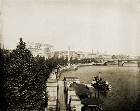 thames river edinburgh london thames river obelisk london england about 1892