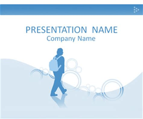 powerpoint templates for students student silhouette powerpoint template templateswise