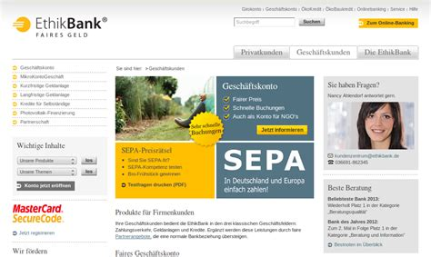 geschäftskonto sparda bank ethikbank test girokonto gesch 228 ftskonto www ethikbank de