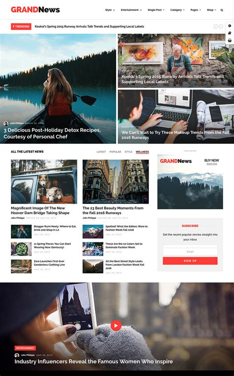 newspaper theme squarespace 25 clean wordpress themes to make modern websites in 2018